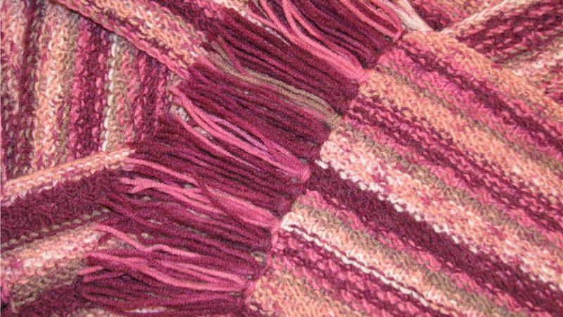 Вид вязки шарфа